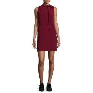 Theory Nurita Tie Neck Shift Dress
